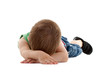 Little Child Lying in the floor