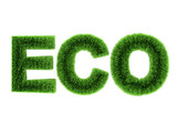 3d Eco sign in grass