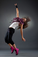 headbanging modern style dancer posing