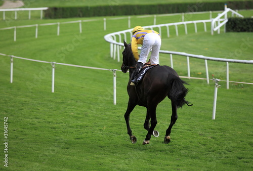 jockey sur champ de course hippique