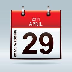 Royal wedding calendar icon