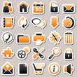 web Orange Stickers