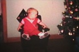 Baby Admiring Christmas Tree (1963 - Vintage 8mm film)
