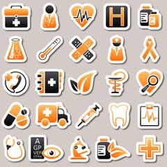 medicine Orange Stickers