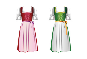 A pair of dirndl dresses