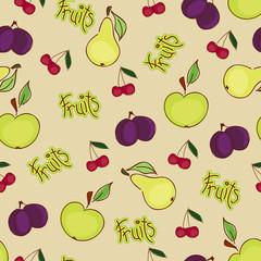 Seamless fruit wallpaper