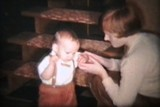 Baby Boy Eats Christmas Dinner (1963 Vintage 8mm film)