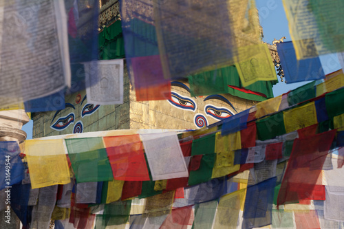 Swayambhunath - religious complex in the Kathmandu Valley.