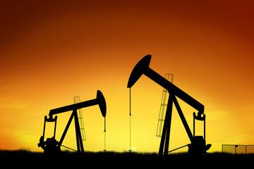 Oil ring at sunset