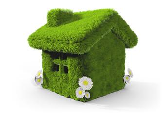 Maison verte écologique 3d