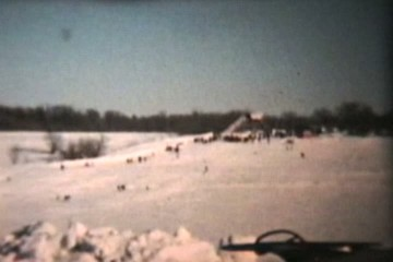 Sledding In The Winter (1958 Vintage 8mm film)