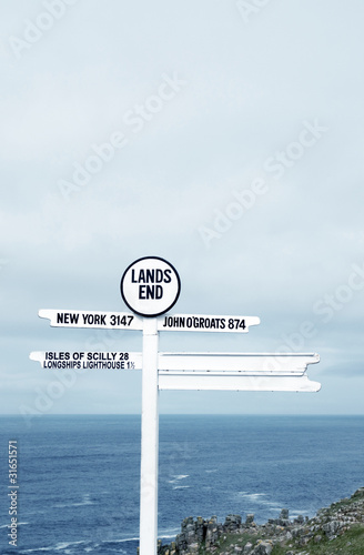 Lands End sign post