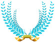 blue laurel wreath