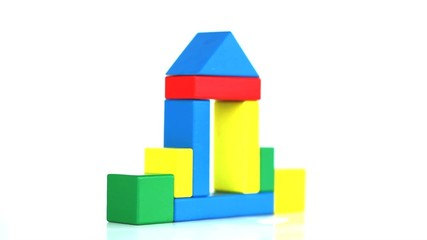 Geometric blocks forming an house