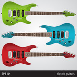 Set of electric guitars