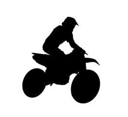Silhouette of motocross rider