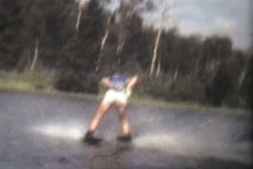 Teenage Boy Trick Waterskiing (1978 Vintage 8mm film)