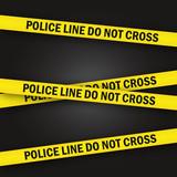 Police line vector murder crime scene poster