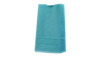 Blue shopping bag turning on itself