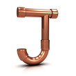 3d Copper tubing letter - J