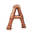 3d Copper tubing letter - A