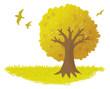 クレヨンの木 秋