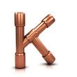 3d Copper tubing letter - K