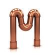 3d Copper tubing letter - M