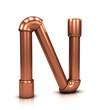 3d Copper tubing letter - N