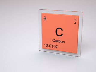 Carbon - symbol C - chemical element of the periodic table