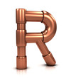 3d Copper tubing letter - R