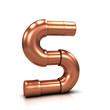 3d Copper tubing letter - S