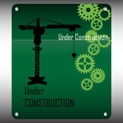 Under construction green plate
