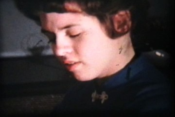 Girl Playing Piano - Close Up (1958 Vintage 8mm film)