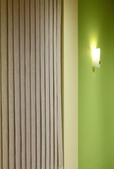 Wall lamp on the green