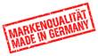 Stempel Markenqualität Made In Germany (Freigestellt)