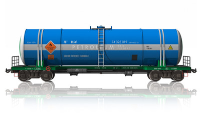 Gasoline tanker railroad car