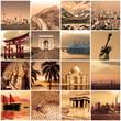 Collage voyage autour du monde