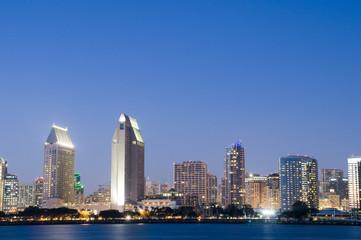 San Diego Skyline with Sky