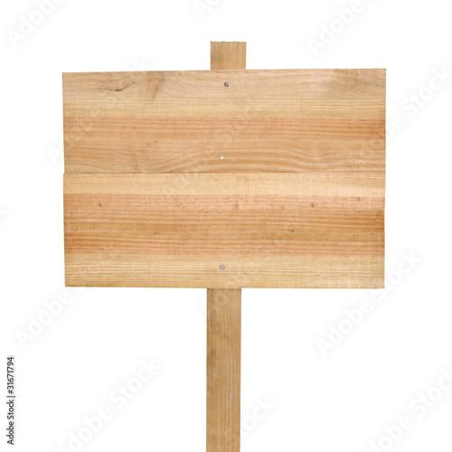 Pancarte bois