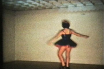 Tap Dancing Teenage Girl (1958 Vintage 8mm film)