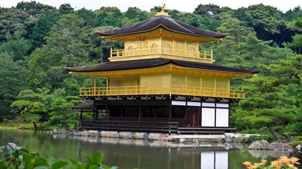 Kinkakuji is Temple of the Golden Pavilion at Kyoto, Japan.