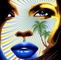 Ritratto Ragazza Esotica-Exotic Girl's Portrait-Vector