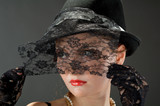 Woman retro revival portrait poster