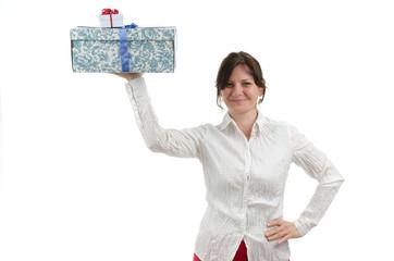 Frau mit zwei Paketen