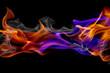 Leinwandbild Motiv Blue and red fire