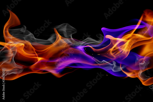 Blue and red fire - 31676507