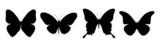 čtyři černé motýli