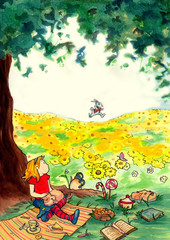Alice vede il bianconiglio