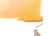 Painting - Home Improvement / Orange / isolated on white backgro